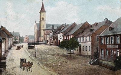 Oberer Markt mit Pfarrkirche